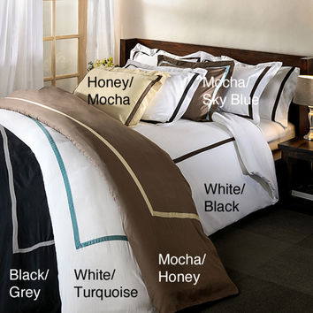 Hotel Collection 300 Thread Count Solid 3-piece Duvet Cover Set   Overstock.com Shopping - The Best Deals on Duvet Covers