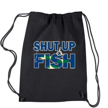 Shut Up And Fish Drawstring Backpack
