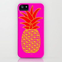 Ananas 3d pink iPhone Case by ramalamb