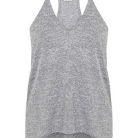 Grey Longline Cami - Miss Selfridge