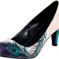 T.U.K. Peacock Feather Anti-Pop Heel Dames Shoes at Broken Cherry