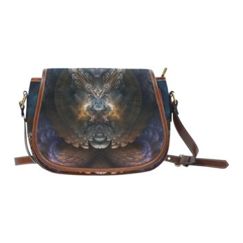 Women Shoulder Bag Orthricon Fractal Fantasy Saddle Bag Lg Saddle Bag Large