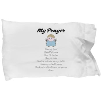 Time to Pray Pillowcase for Kids, Bedtime Pillow Cover for Sweet Dreams, Gifts for Toddlers