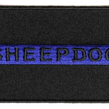 Thin Blue Line Sheepdog Patch for Law Enforcement