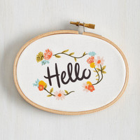 Boho Greeted With Sweetness Art Hoop by ModCloth