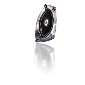 Kat Pyrite and Black Silver Ring