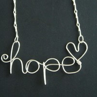 Hope Wire Necklace  on Luulla
