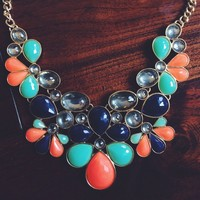 Multicolored Statement Necklace