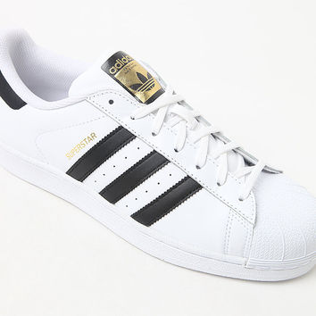 adidas Superstar White and Black Shoes at