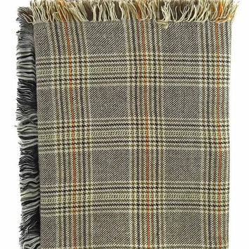 Grandfather Houndstooth Plaid Blanket Scarf