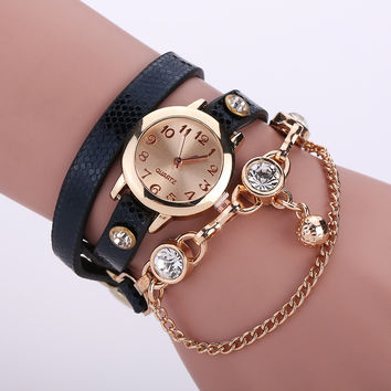Shiny Jewelry Gift New Arrival Hot Sale Stylish Diamonds Ring Watch Ladies Necklace [6047866369]