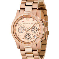 Michael Kors Watch, Women's Runway Rose Gold Plated Stainless Steel Bracelet 38mm MK5128 - All Watches - Jewelry & Watches - Macy's