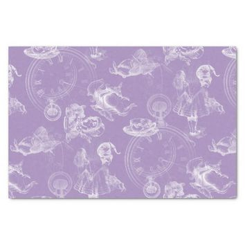 "Alice in Wonderland Tea Time Lavender Tissue Paper 10"" X 15"" Tissue Paper"