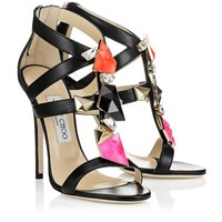 Black Nappa Sandals with Stones | Colada | Cruise 2013 | JIMMY CHOO Sandals