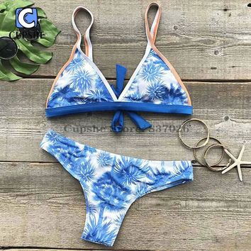 Cupshe Never Be Apart Coconut Bikini Set Summer Sexy Swimsuit Ladies Beach Bathing Suit swimwear