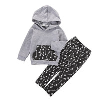 Retailed 2016 new baby's sets newborn baby Girls and Boys clothes cotton hooded sweatshirt Top+Pants 2pcs outfit tracksuit set