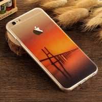 Bridge Case TPU Cover for iphone 7 7 Plus & iphone 6 6s Plus & iphone se 5s + Gift Box