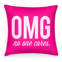 NO ONE CARES PILLOW