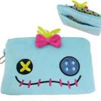 Scrump Plush Cosmetic Bag for Women - Lilo and Stitch Plush Pencil Pouch