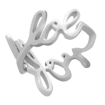 White Plated Scribble Ring