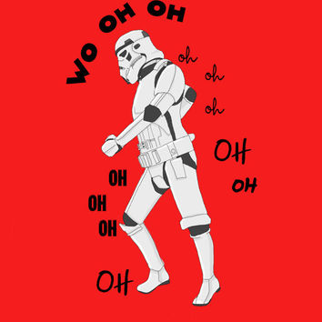 All the single ladies Stormtrooper Printable Geek Print Star Wars  Beyonce Funny Poster Illustration - Instant Download