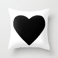 Black and White Pillow - Heart Pillow - Kids Pillows - Modern Decorative Pillows - Velveteen Pillow Cover - Modern Home Decor - Gift Ideas
