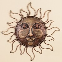 "A.M.B. Furniture & Design :: Accessories :: Wall Art & Clocks :: Metal wall SUNFACE 16""D"