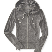 Aeropostale  Lightweight Heathered Full-Zip Hoodie