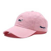 Whale Logo Baseball Hat in Flamingo by Vineyard Vines, Also Featuring Longshanks the Fox