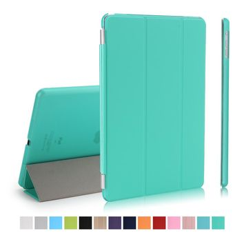 """Smart Case For New iPad 9.7 inch 2017 Model Folding Folio Cover Auto Sleep/Wake Up Tablet 9.7"""" stand pu leather+pc plastic"""
