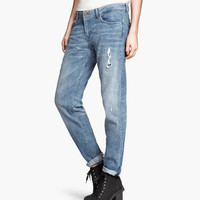 H&M - Boyfriend Skinny Jeans - Denim blue - Ladies