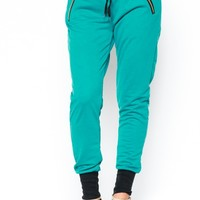Ashley Jogger Pants in Teal