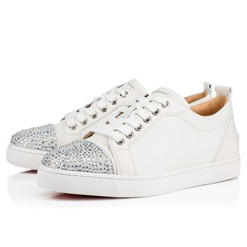 Junior Strass Woman Flat Version Latte Strass - Women Shoes - Christian Louboutin