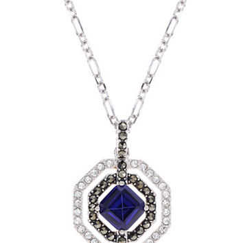 Judith Jack Sterling Silver and Layered Crystal Pendant Necklace