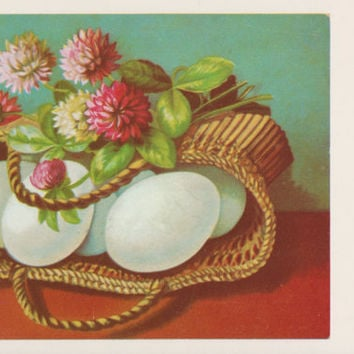 Lithuanian Easter Postcard -- 1970?