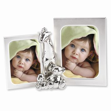 Silver-plated Metal with Matt Finish Baby Photo Frame