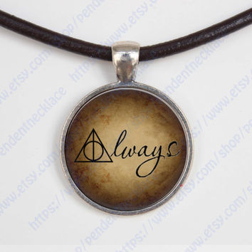 Harry Potter After all this Time, Always Quote Pendant necklace, Snapecharm,Harry Potter jewelry vintage pendant gift,friend gift