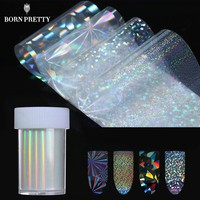 holographic Starry Stickers Nail Foil 4*100cm Holo Glitter Transfer Sticker 8 Patterns Manicure Nail Art Decoration