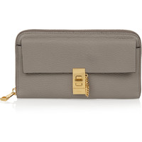 Chloé - Drew textured-leather wallet