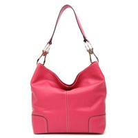 Women's Stitched Solid Hobo Bag Pink