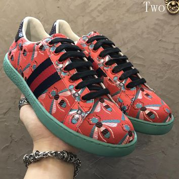 Gucci Man or Woman Fashion Multicolor Pattern Sneakers Sport Shoes