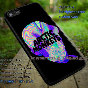 Vocalist Alex Turner Silhouette with Band Logo iPhone 6s 6 6s+ 5c 5s Cases Samsung Galaxy s5 s6 Edge+ NOTE 5 4 3 #music #arc dt