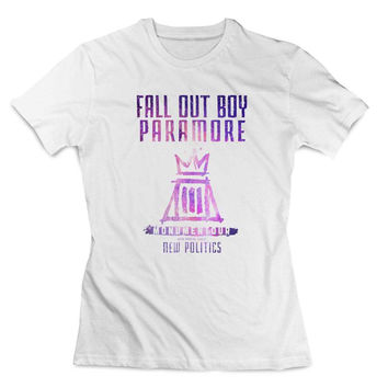 Fall out boy paramore cover galaxy Clothing T shirt Women