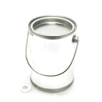 Clear Paint Pails Container Tin Lid, 3-inch x 4-inch
