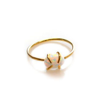 Gold Opal Claw Ring