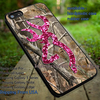 Camo Browning Pink Glitter iPhone 6s 6 6s+ 5s 5c 4s Cases Samsung Galaxy s5 s6 Edge+ NOTE 5 4 3 #art ii