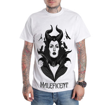 Maleficent Angelina Jolie Star T-Shirt Size S,M,L,XL