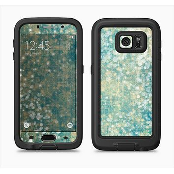 The Unfocused Green & White Drop Surface Full Body Samsung Galaxy S6 LifeProof Fre Case Skin Kit