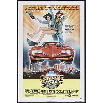 Corvette Summer Movie poster Metal Sign Wall Art 8in x 12in