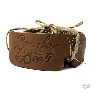 Southern Inspired Leather Coaster Set